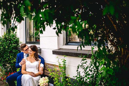 Binnenlocatie trouwfoto's Bloemendaal